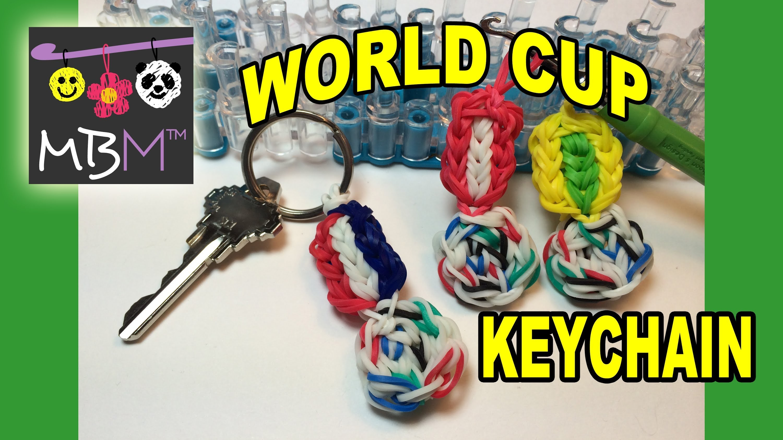 2014 FIFA World Cup Brazuca Ball Keychain on the Rainbow Loom