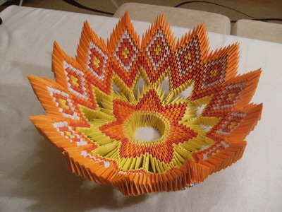 3D origami  - BOWL for fruits - misa na owoce - how to make instruction