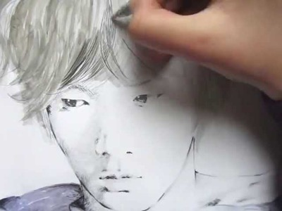 ' A Young Deer ' _ Key ( SHINee ) - Speed Painting