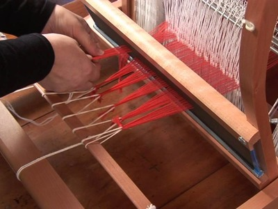Ashford - How to put a warp on your table loom Pt 2