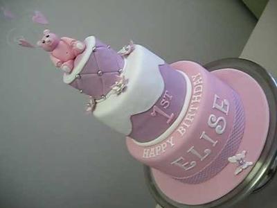 Baby's 1st Birthday 3 Tier Cake & Mini 4 Tier Anniversary Cake