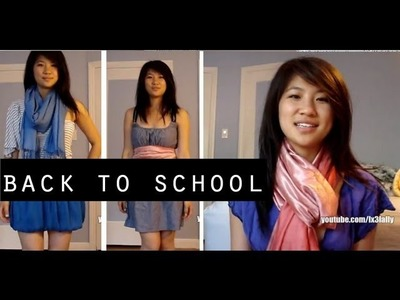 Back to School Outfit Ideas - Fun Ways to Wear a Scarf!
