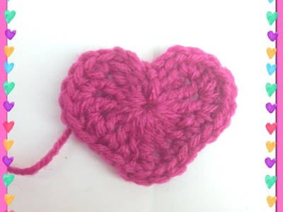 Big Crocheted Heart Applique   Valentine's Day   Video Tutorial