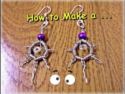 "Como Hacer ""Pendientes Hippies"". How to Make a""Hippies Earrings"" - By Puntoy Alambre."