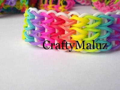 Como Hacer Pulsera de Gomitas en Triple: How to make the rainbow loom:Triple singe