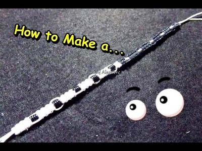 "Como Hacer ""Pulsera del Ying Yang"".How to Make a ""Bracelet Ying Yang ""-By Puntoy Alambre."