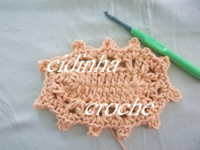 Croche- Repassando O Bico Do Tapete Retangular- Tutorial Do Bico Completo