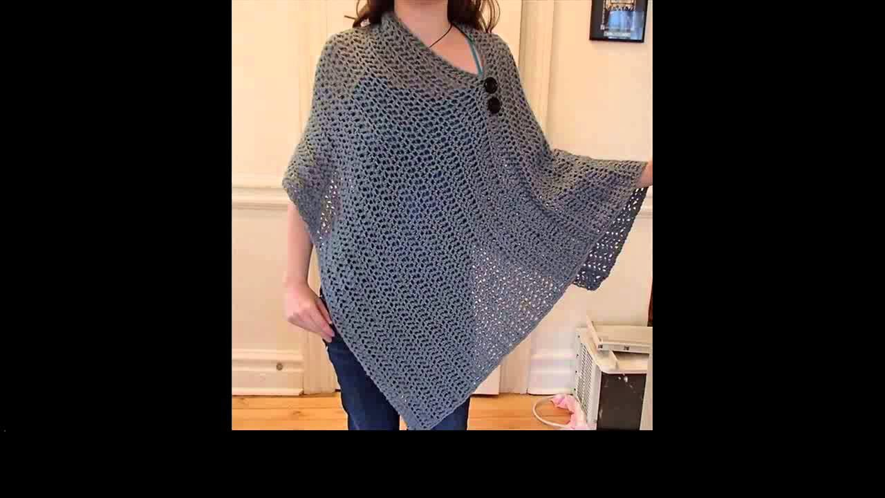 Crochet poncho for beginners