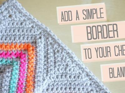CROCHET: Simple chevron border | Bella Coco #ad