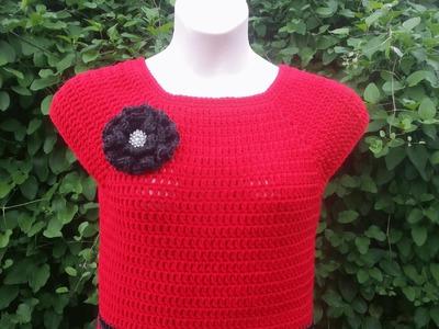 #Crochet Womens L.XL Top Blouse Shirt #TUTORIAL