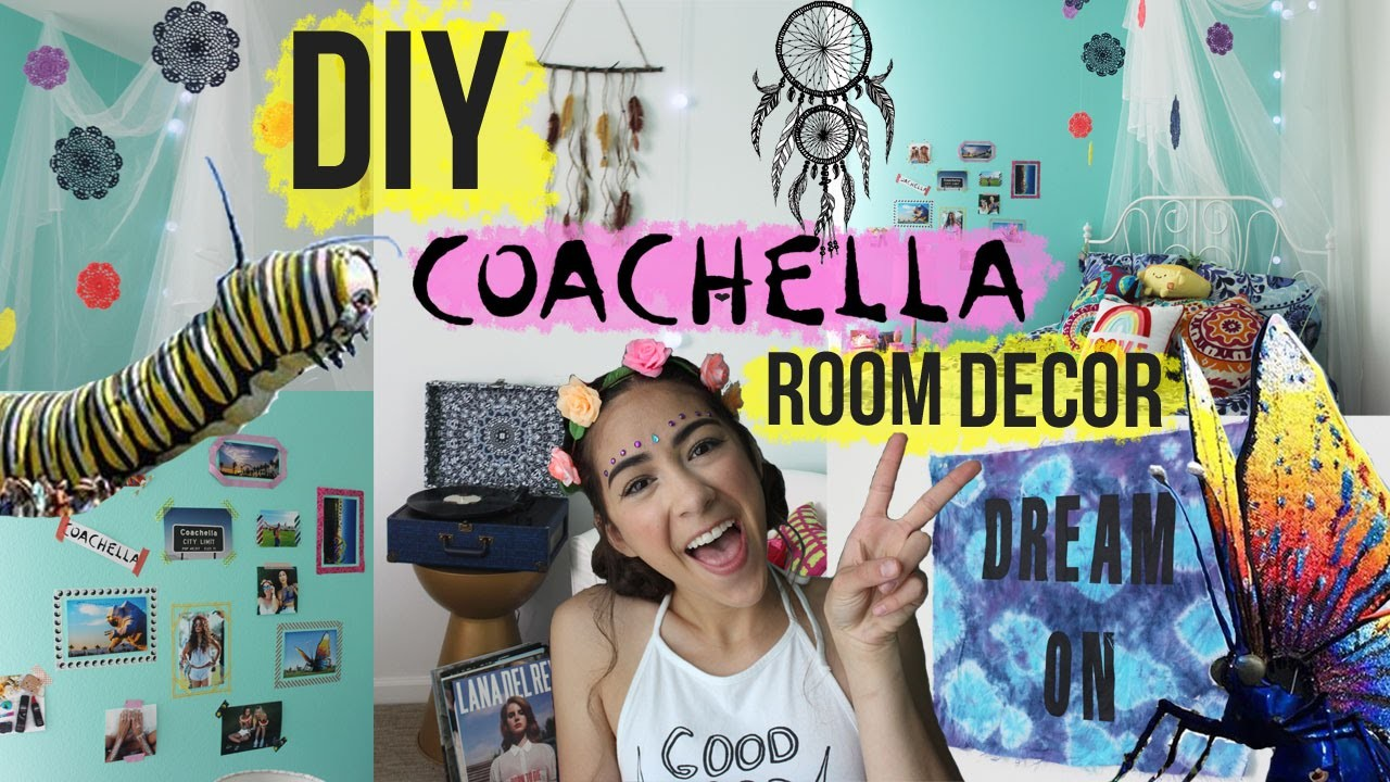 DIY COACHELLA INSPIRED ROOM DECOR!