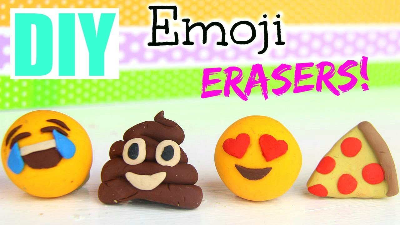 DIY Emoji Erasers! |Back to School 2015