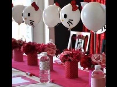 DIY Hello kitty party decorating ideas