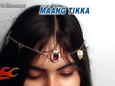 DIY How to make Maang Tikka (Crown. Mukut )  - JK Arts 562