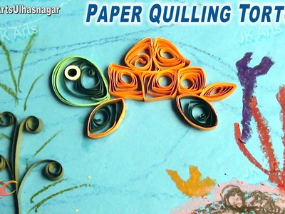 DIY Paper Quilling Tortoise | How to make Under the Sea Creature | JK Arts 643