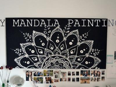 DIY Spring Room Decor Mandala Painting.