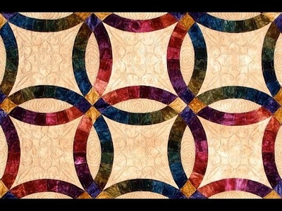 Double Wedding Ring part 2 quilt video by Shar Jorgenson