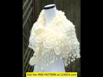 Easy crochet shawl project
