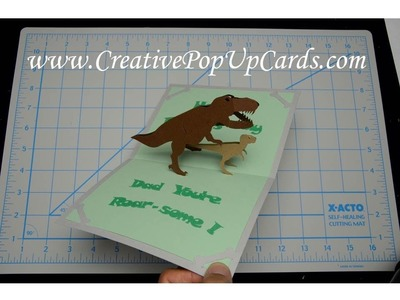Father's Day Dinosaur Pop Up Card Tutorial