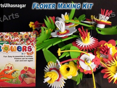 Foam Flowers Making Kit - Unboxing. Tutorial~ Mothers day Valentines day-  JK Arts 539