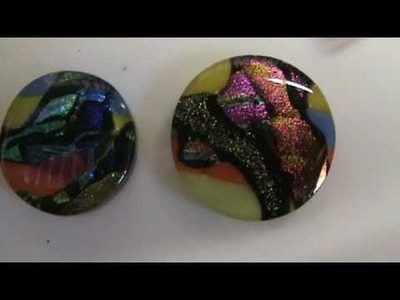 Fusing glass strips for cabochons 19a - Dichroic Glass Man