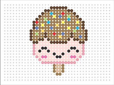 Hama Bead Kawaii Ice Cream (Kawaii Series 2 #12)