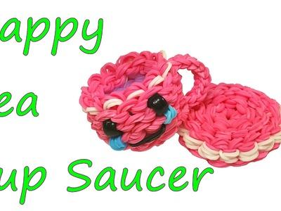 Happy Tea Cup Saucer Tutorial by feelinspiffy (Rainbow Loom)