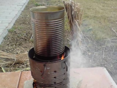 Hobo stove - how to make it from an old tin can - csavargó tűzhely