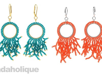 How to Add Beaded Coral Around a Form that has Circular Brick Stitch