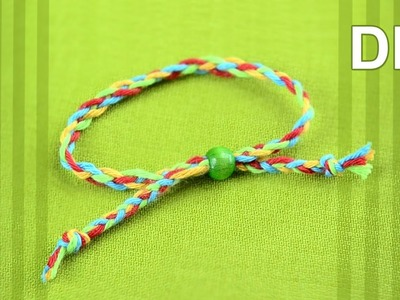 How to braid Friendship bracelet with FOUR strands - super easy