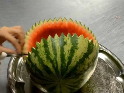 How to Carve Watermelon Baby Stroller : Displaying A Baby Stroller Fruit