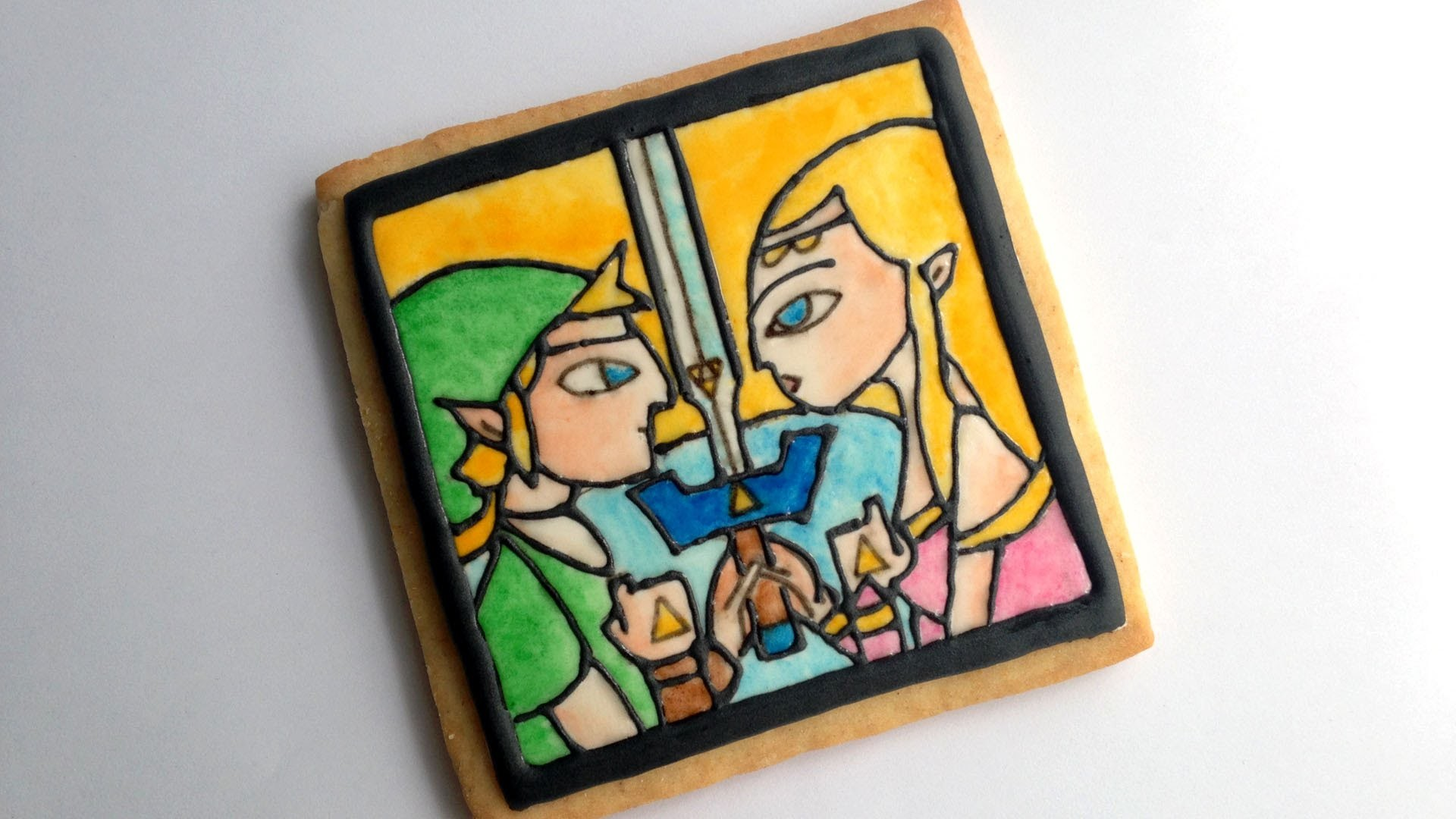 How To Decorate a Stained Glass Cookie - Zelda Collab with NerdECrafter!