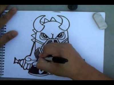 How to Draw a Dragon with a Gas Mask by Wizard