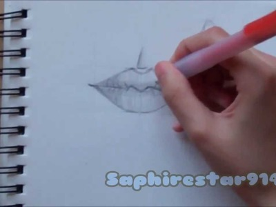 How to Draw Lips Part 1: Drawing Easy Realistic Lips Tutorial