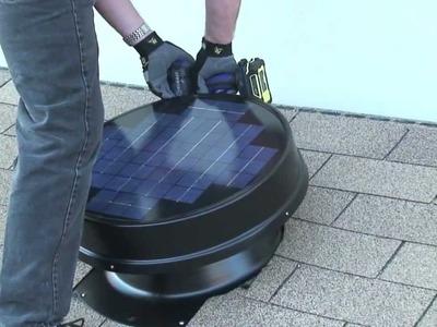 How to install Solar Attic Fan DIY YellowBlueTech