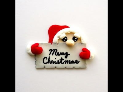 How To Make A Card From Santa Cupcake Topper