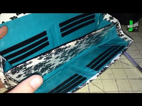 How to Make a Duct Tape Accordion Style Clutch Women's Wallet!