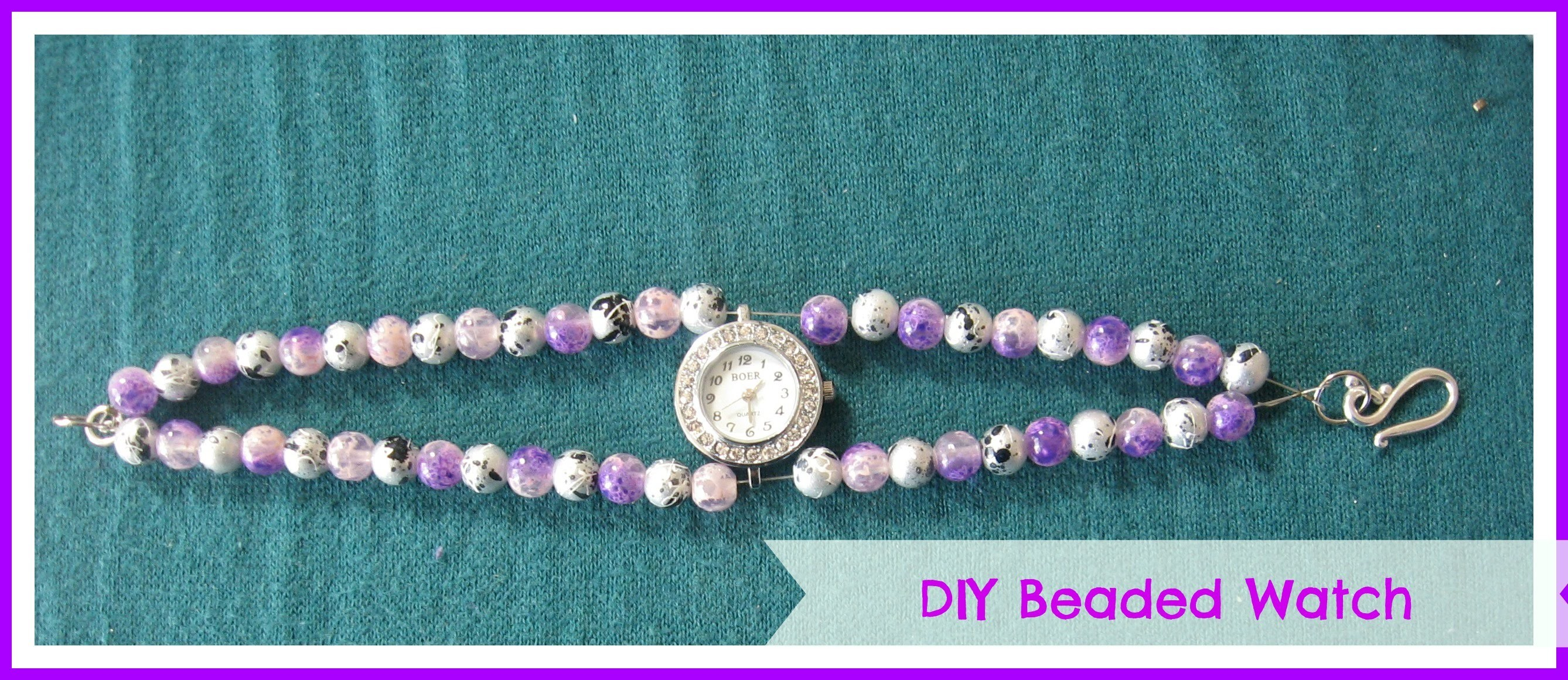 How to make a easy Beaded Watch. DIY Beaded Watch