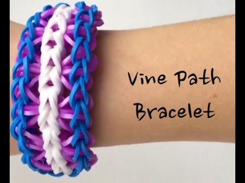How To Make A Rainbow Loom Vine Path Bracelet - Medium