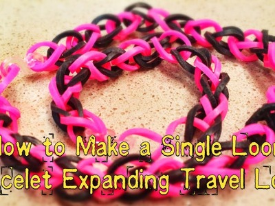 How to Make a Single Loom Bracelet Expanding Travel Loom