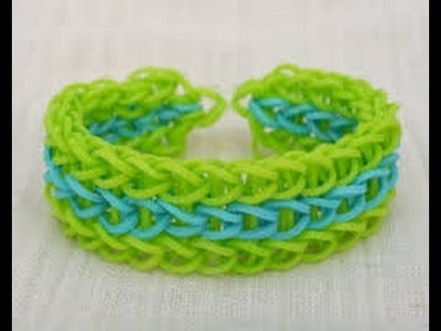 How to make a starburst bracelet rainbow loom easy step by step
