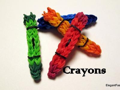 How to make Crayon Charm - Rainbow Loom - School Series