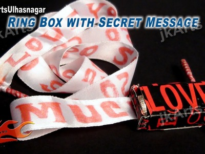 HOW TO: Make Small Gift Box with secret message - Valentine's Day Gift Idea - JK Arts 490