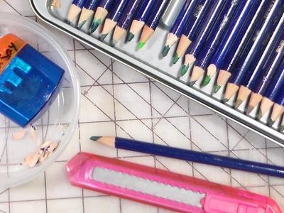 How to sharpen watercolor pencils