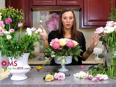 Make a Romantic Ranunculus Centerpiece