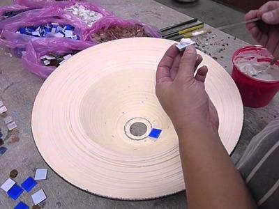 Making a mosaic basin part 3 - Clay Craft Malaysia