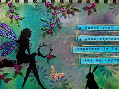 Mixed Media Art Journal Page - Secret Garden
