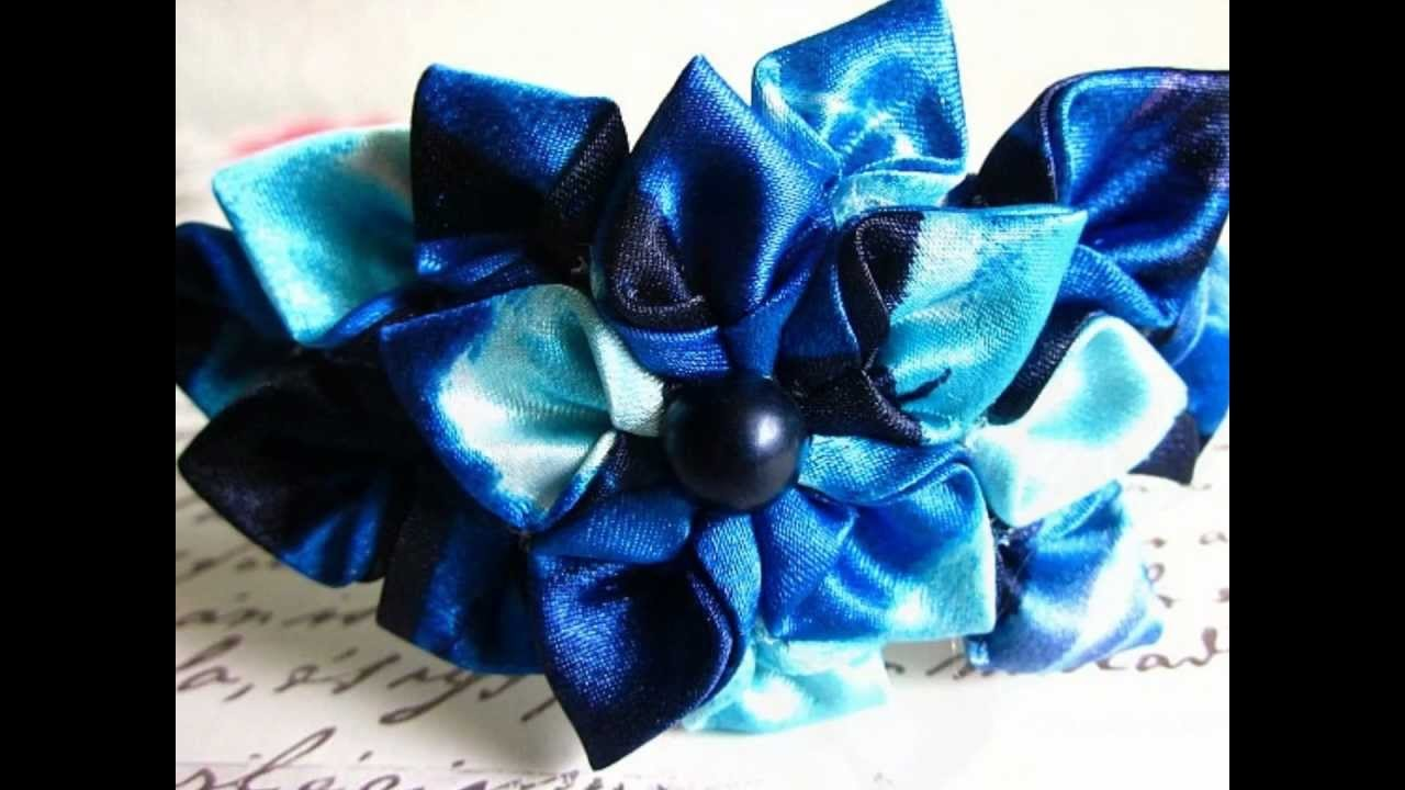 My Handmade Kanzashi Inspired Fabric Headbands