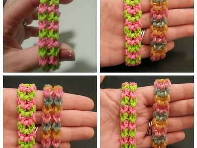"My New Reversible ""Twist n Swirl"" Rainbow Loom Bracelet. How To Tutorial"