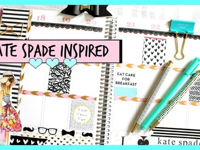 Plan With Me: Kate Spade Inspired Erin Condren Weekly Layout